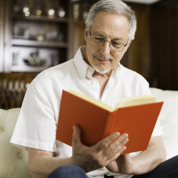 Man Reading A Book 600x600